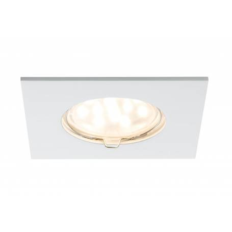 Lot de 3 Spot led encastré carré blanc mat 6,8W alu IP44