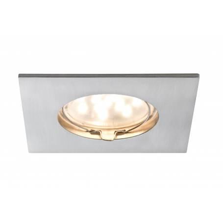 spot led encastrable carré acier brossé 6,8W blanc chaud