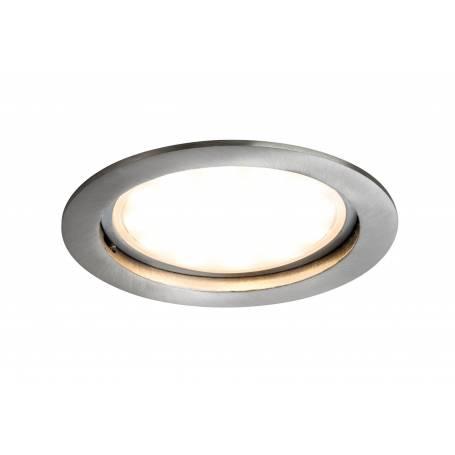 Spot led encastrable dimmable acier brossé rond 100mm 14w opaque