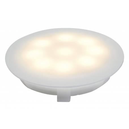 Spot led encastrable sol salle de bain rond IP67 blanc chaud opaque