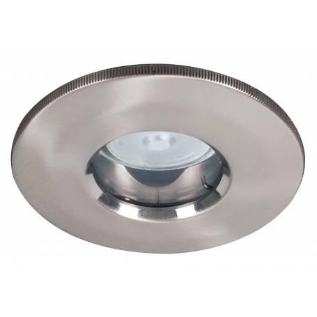 Spot led encastrable rond salle de bain GU5,3 4w acier brossé IP 65 par 3 pièces