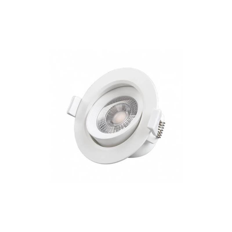 Spot LED 7W encastrable orientable rond blanc naturel professionnel