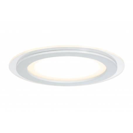 Lot de 2 Spots led encastrable rond  verre et métal 7,5W blanc chaud dimmable