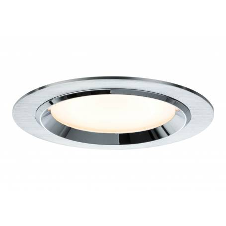Kit de 3 Spots led encastrable design rond 150mm Alu brossé 8W dimmable