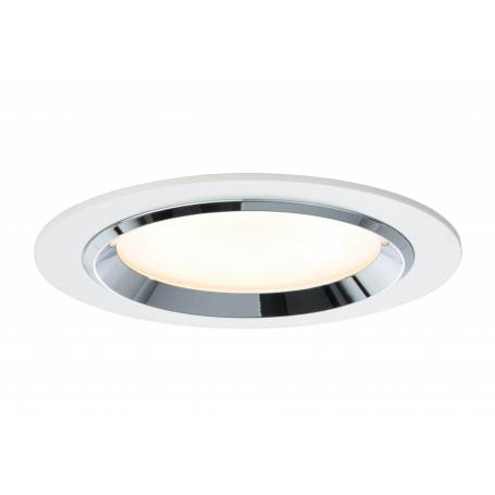 Kit 3 Spots led encastrables design rond 150mm blanc et chromé 8W dimmable