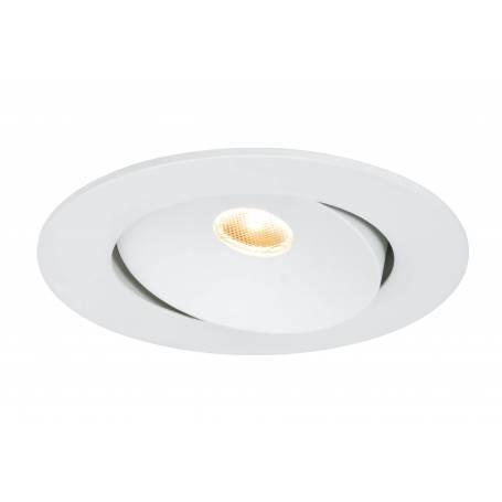 Spot led encastré orientable rond blanc mat faisceau lumineux 10W par 3 pièces