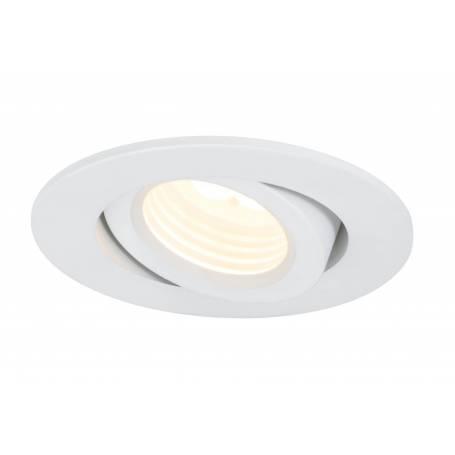 Spot led encastré orientable rond blanc mat dimmable 10W par 3 pièces