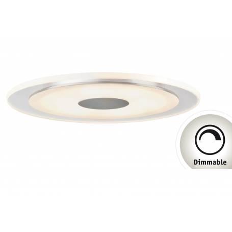Spot led dimmable alu brossé satin 6w rond led blanc chaud par 3