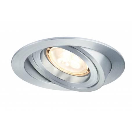 kit 3 Spot led encastrable orientable dimmable aluminium brossé rond 4w