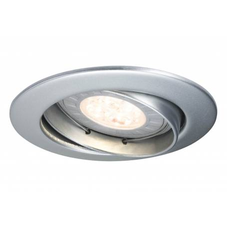 Lot de 3 spots led GU10 encastrable rond chrome mat 3,5W