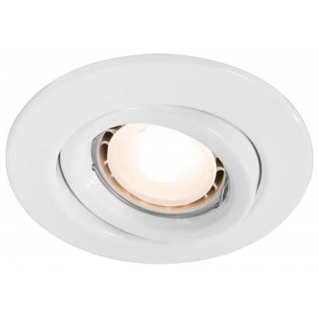 Lot de 3 Spots led GU10 rond orientable blanc 3,5W intérieur 110mm pas cher