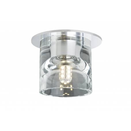 Spot led G4 encastré tube verre rond et métal 1W X 3 pièces