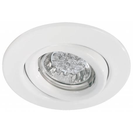 Spot led GU10 rond orientable blanc 1W intérieur 110mm pas cher