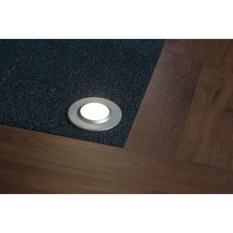 KIT 3 Spots led intérieur pour sol rond chrome mat 3W