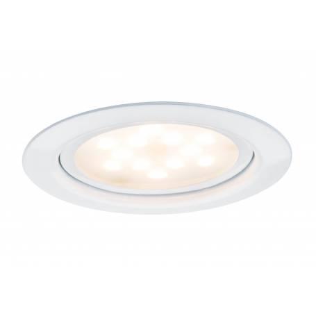 Spot led encastrable extra plat pour meuble rond 65mm blanc 4,5W