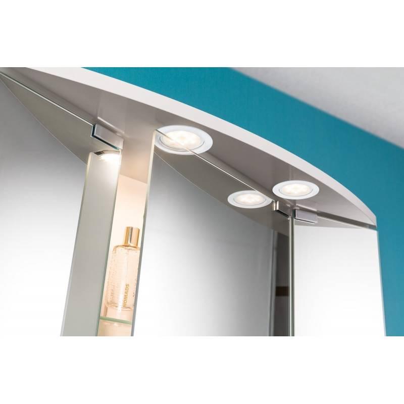 Spot led encastrable extra plat pour meuble rond 65mm blanc 4,5W professionnel