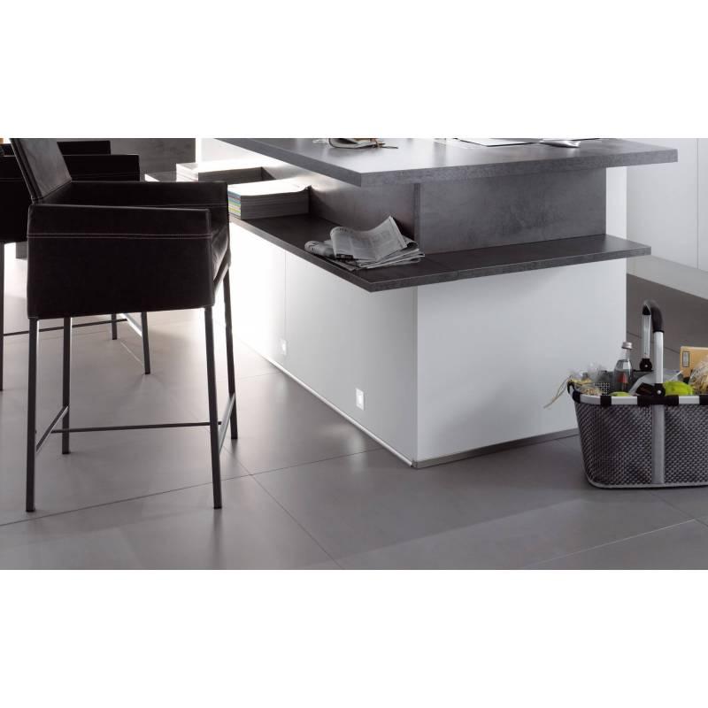 5 Mini spots led carré 35mm extra plat pour meuble 1W aluminium chromé professionnel