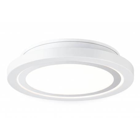 Plafonnier led rond blanc mat 11,5W IP44 pour salles de bains dimmable