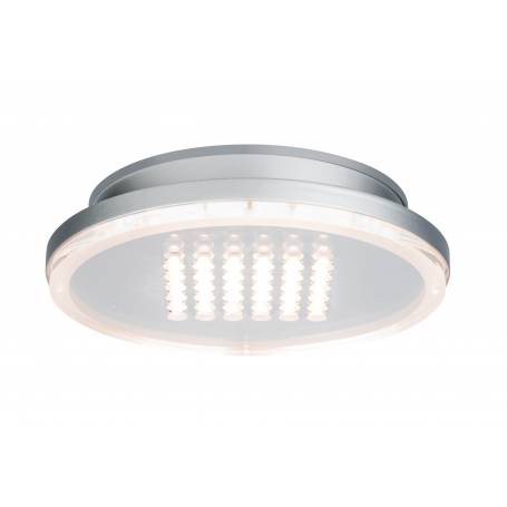 Plafonnier led rond chrome mat 10W points lumineux dimmable en saillie