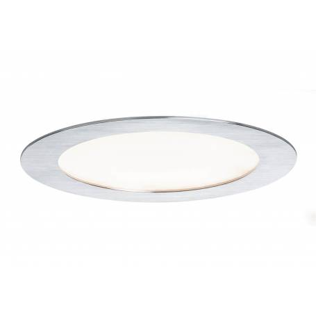 Downlight led encastrable rond 180mm alu brossé 6,5W blanc froid