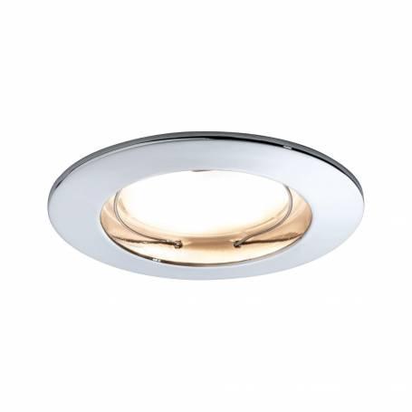 Kit de 3 spot encastrable led salle de bain rond blanc chaud 7w chrome 93960 - Spot led encastrable salle de bain ...