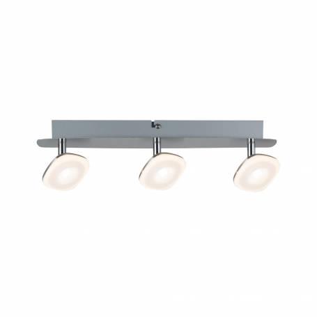 Plafonnier 3 spots LED carrés orientable métal blanc chaud professionnelle professionnel
