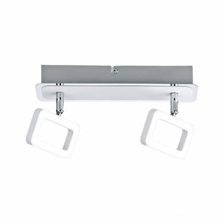 Plafonnier design 2 spots LED rectangle ajouré 4,5W blanc chaud