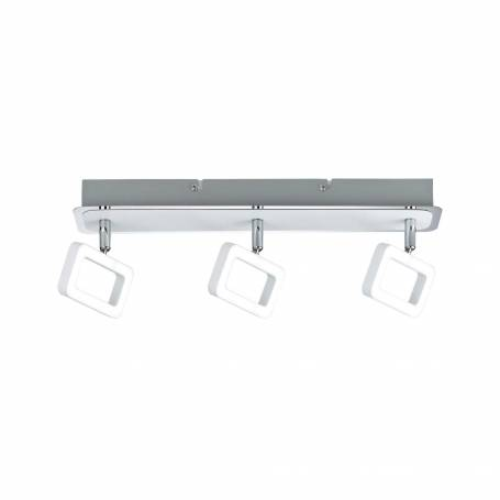 Plafonnier design 3 spots LED rectangle ajouré 4,5W blanc chaud