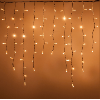 Guirlande LED stalactite effet flamme blanc chaud prolongeable professionnelle
