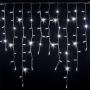 Guirlande stalactite 3M H 90CM 228 LED blanc froid flash raccordable 230V ILLUPRO
