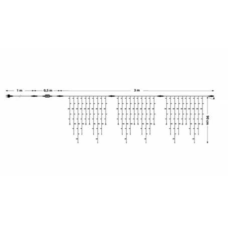 schéma guirlande stalactite flash hauteur 90cm