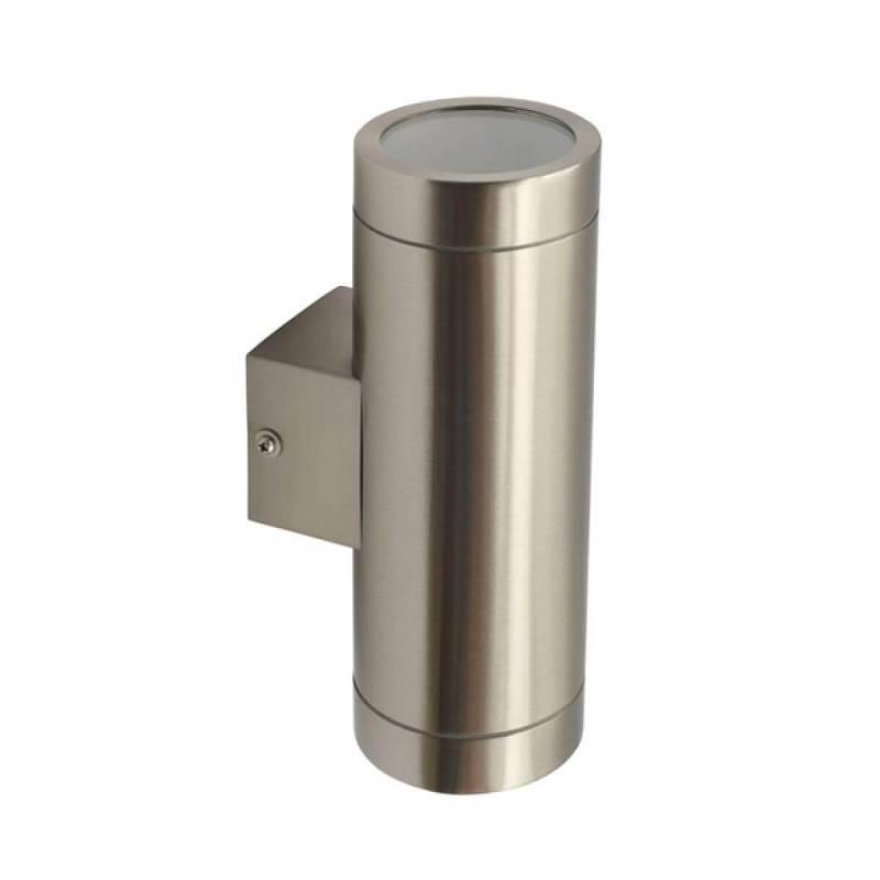 Applique extérieur éclairage haut et bas Acier et verre GU10 professionnel