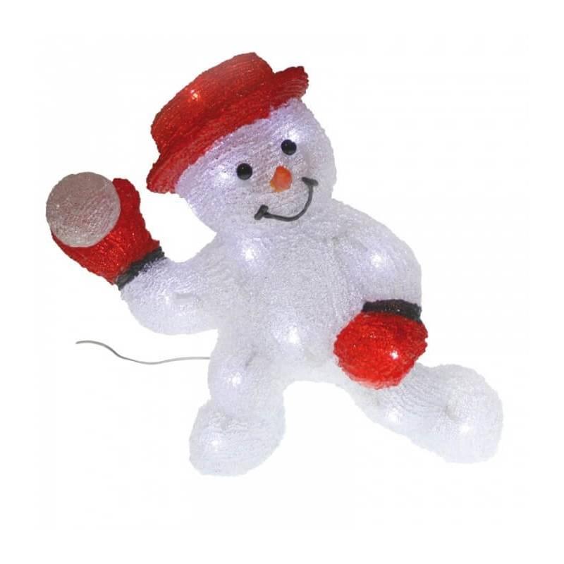 bonhomme de neige lumineux led boule de neige 30cm