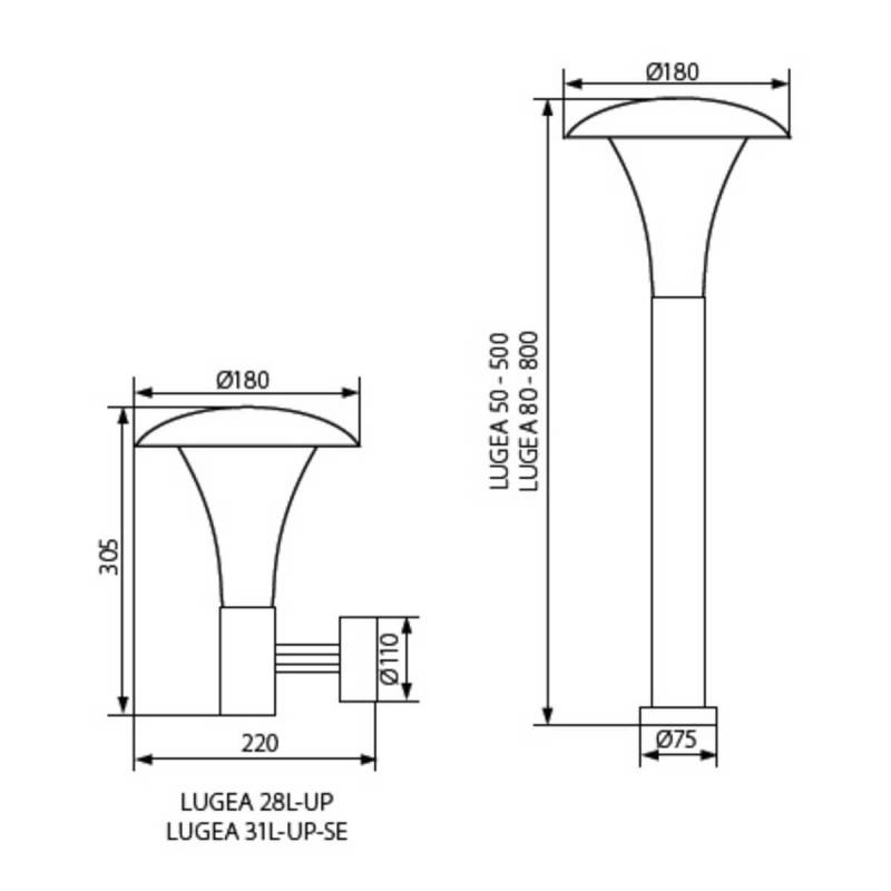 Applique extérieur détecteur de mouvement luminaire E27 professionnel