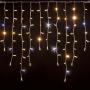 Guirlande stalactite 3M H90 228 LED blanc chaud et blanc froid raccordable 230V ILLUPRO
