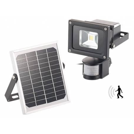 Projecteur LED solaire 10w detecteur de mouvement blanc froid