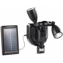 Double projecteur LED solaire orientable 3W detecteur de mouvement professionnel
