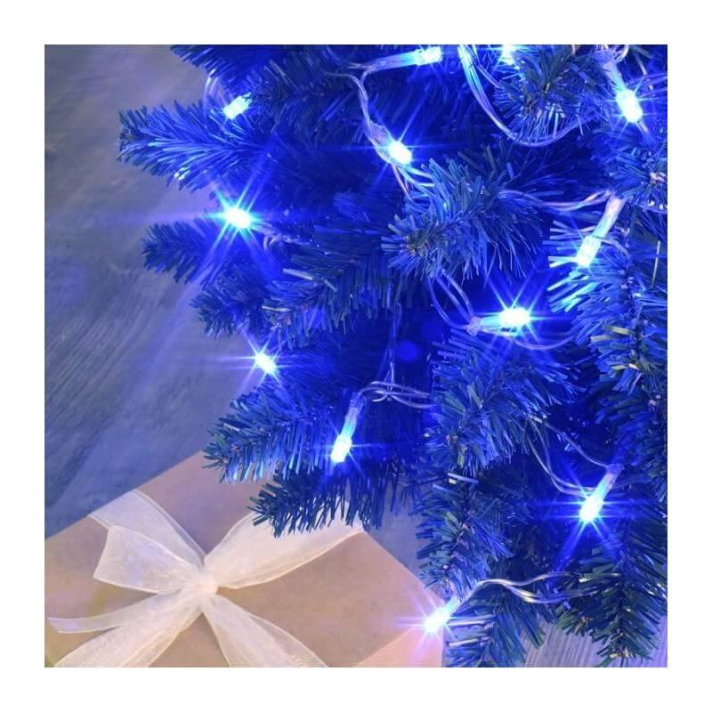 guirlande lumineuse connectable 8 m animée blanc froid et bleue