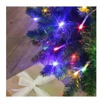 Guirlande lumineuse connectable  8 m animée blanc chaud et multicolore