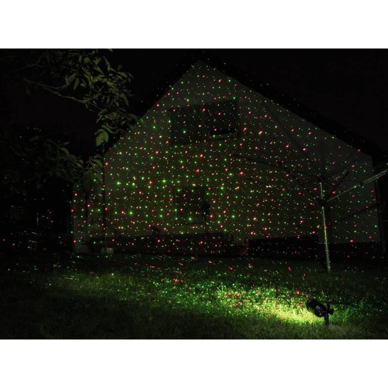 projecteur led laser solaire point lumineux rouge et vert