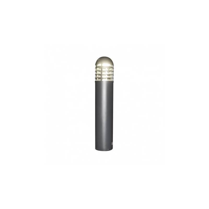 Potelet rond aluminium gris Led blanc naturel 35W IP65 extérieur