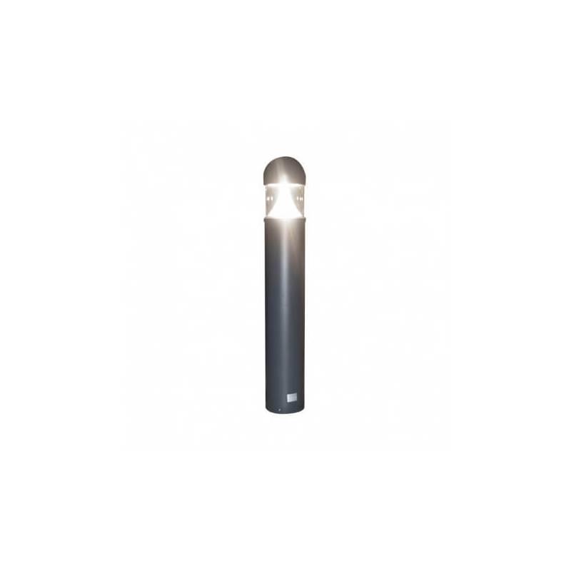 Potelet rond armature gris Led blanc naturel conique 35W exterieur IP65