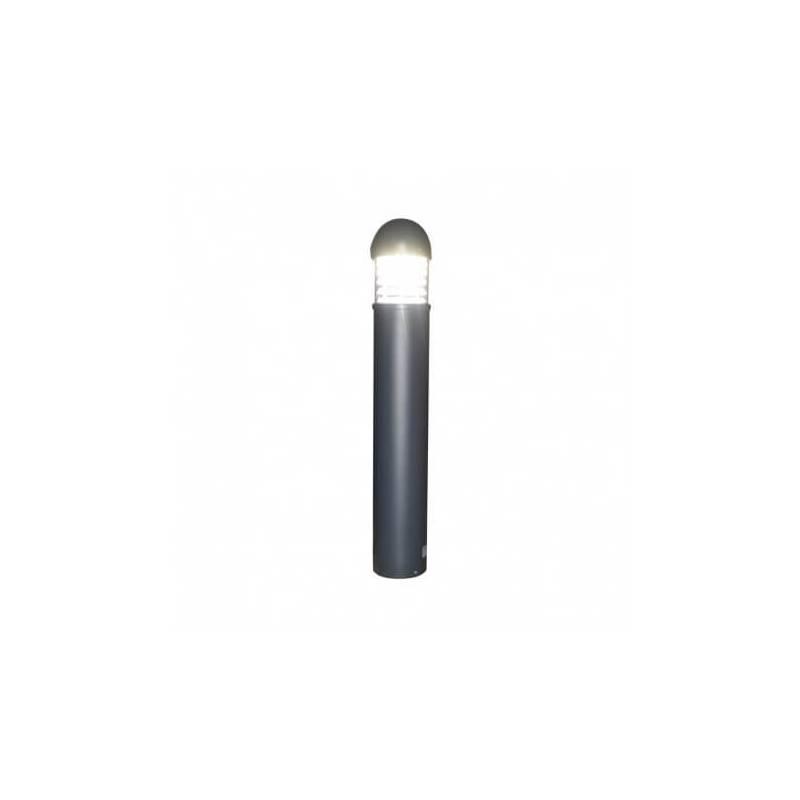 Potelet rond armature gris 230V 25W Led blanc naturel extérieur IP65