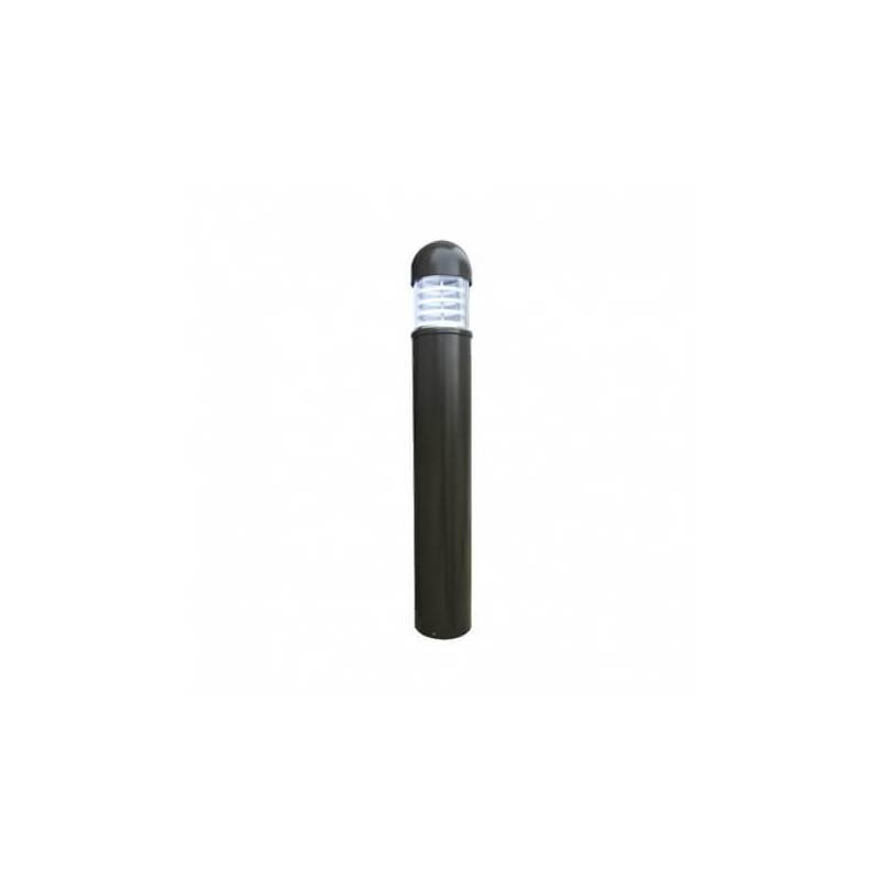 Potelet rond aluminium gris 25W Leds Blanc froid hauteur 101cm IP65