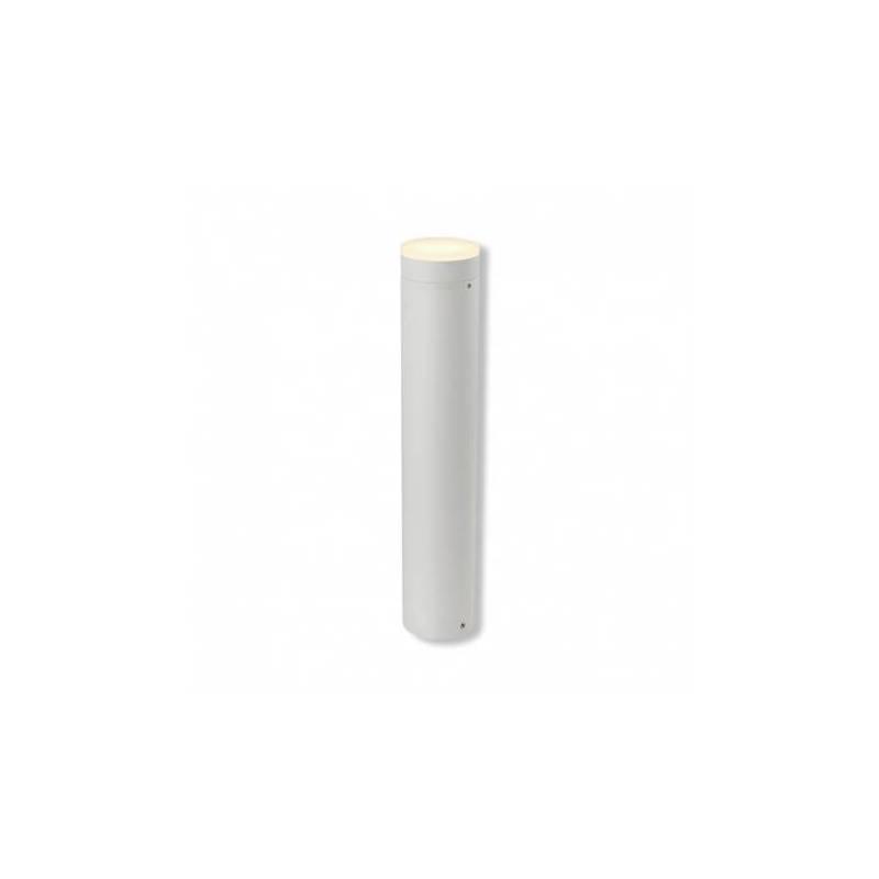 Potelet cylindre armature blanc Led blanc naturel hauteur 50cm IP54 extérieur