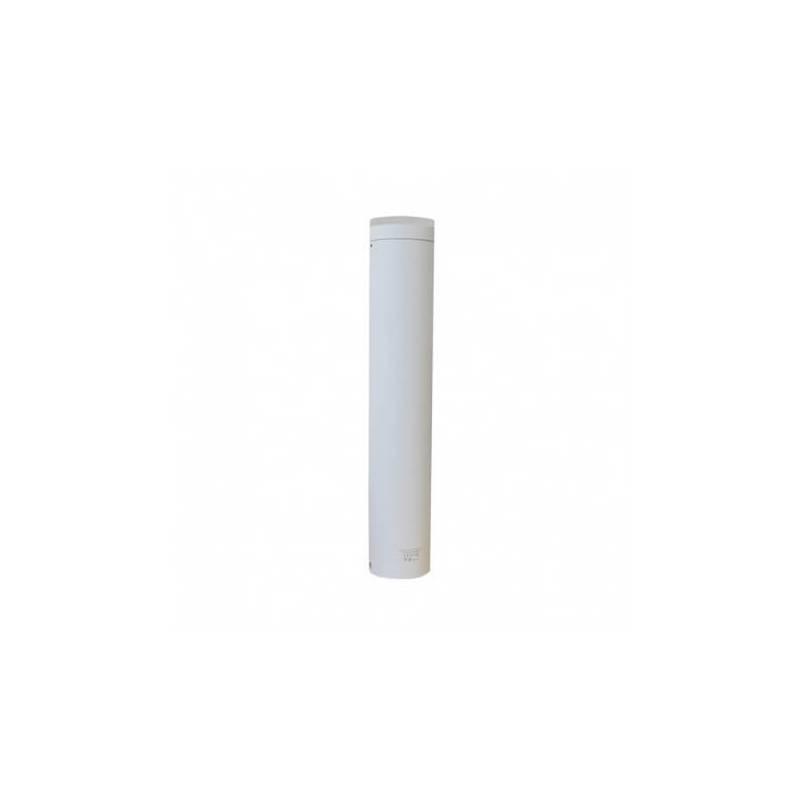 Potelet cylindrique blanc Led blanc chaud 3000k 10W hauteur 50CM IP54