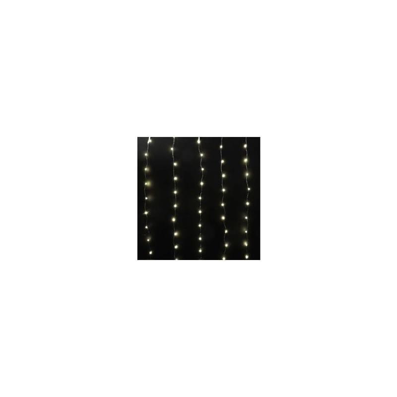 Rideau lumineux led métal micro led blanc chaud 16 programmes