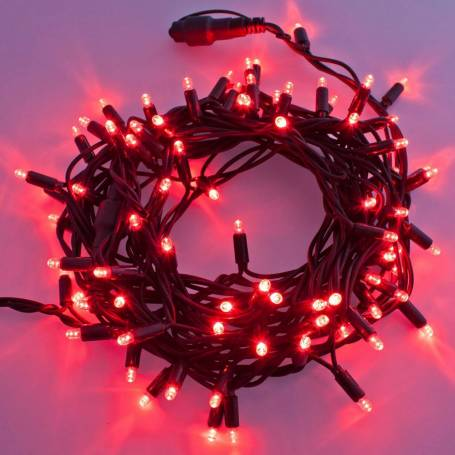 Guirlande lumineuse LED 10M rouge raccordable professionnelle