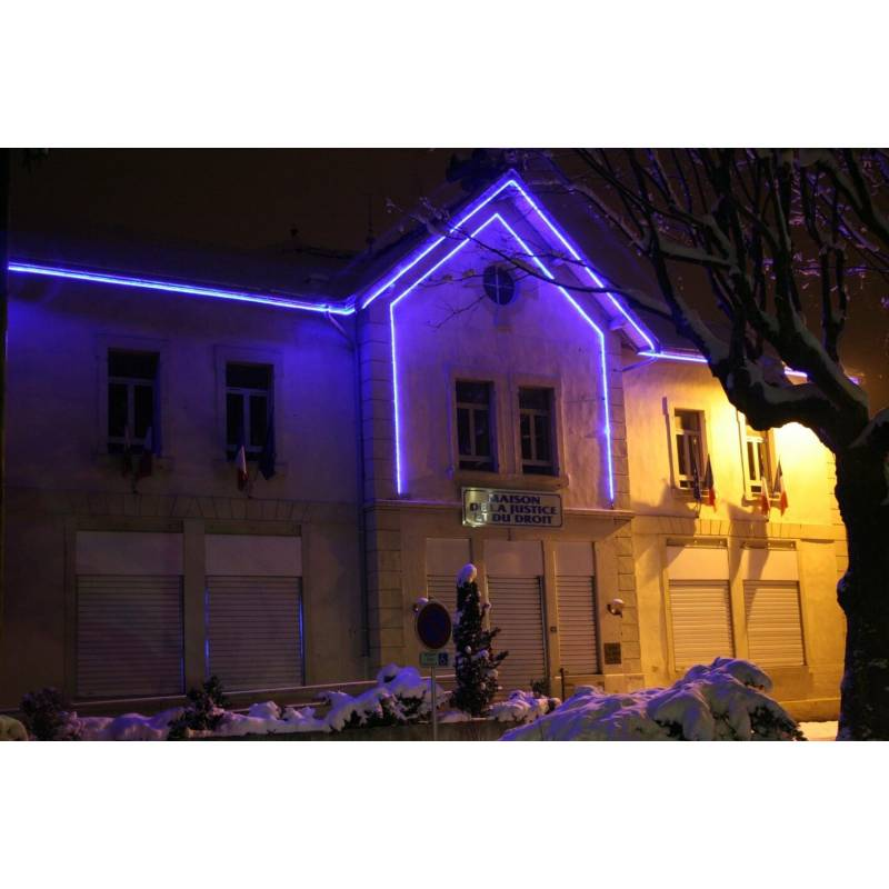 cordon lumineux led 10 mètres bleu décoration murs extérieur