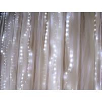 rideau lumineux led métal micro led blanc froid 16 programmes